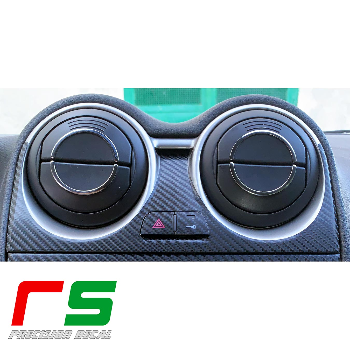 alfa romeo mito STICKERS cover decal console tuning vents carbonlook