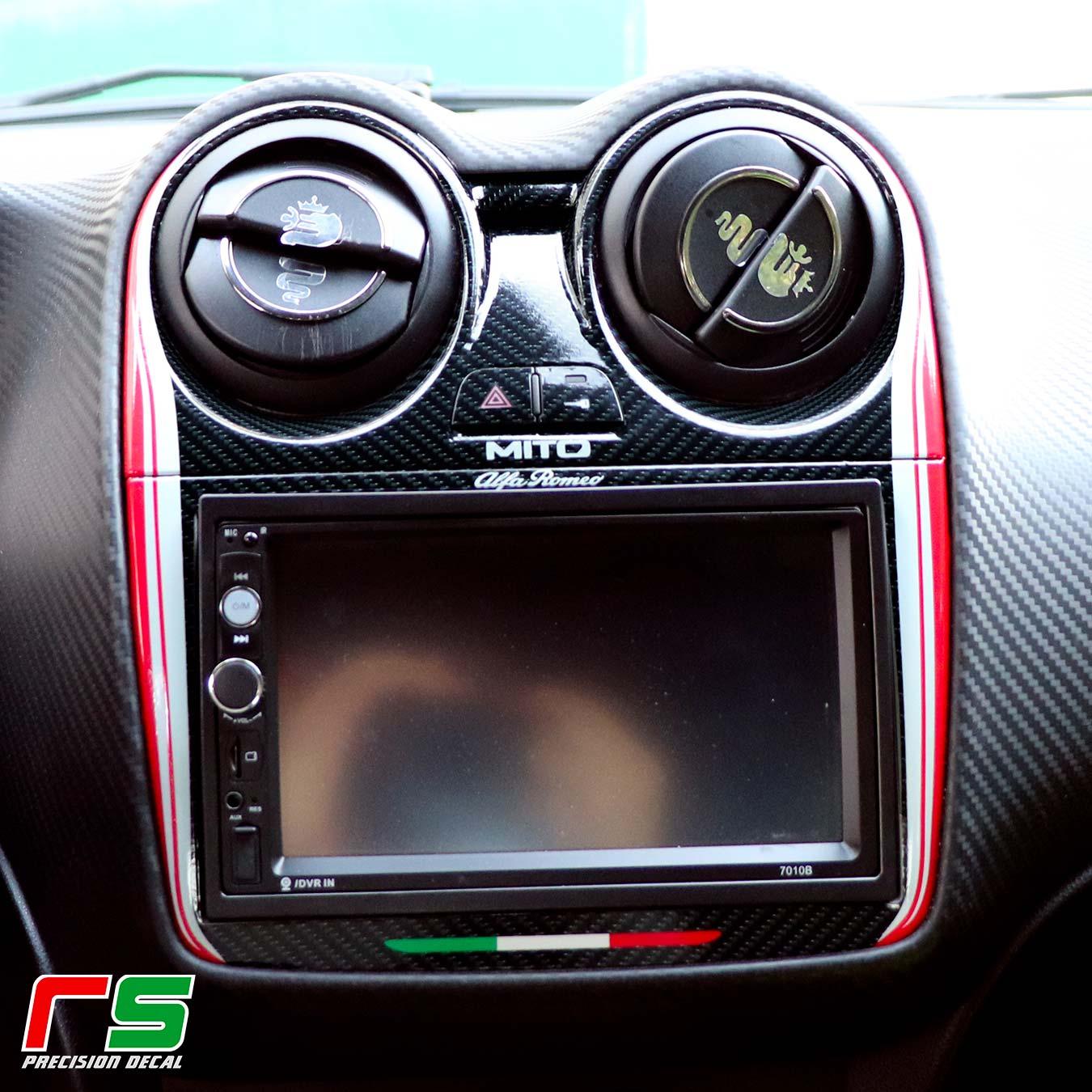 Alfa Romeo Mito kit consolle + volante color adesivi personalizzati