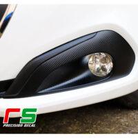 Peugeot 208 bumper fog light stickers decal carbonlook tuning