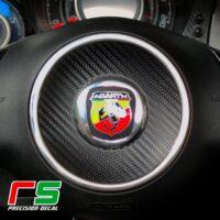 fiat 500 595 695 abarth STICKERS carbonlook tuning steering wheel airbag insert
