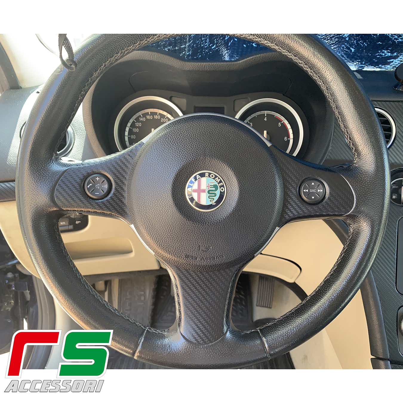 Aufkleber Alfa Romeo 159 Carbonoptik-Abdeckspeichen