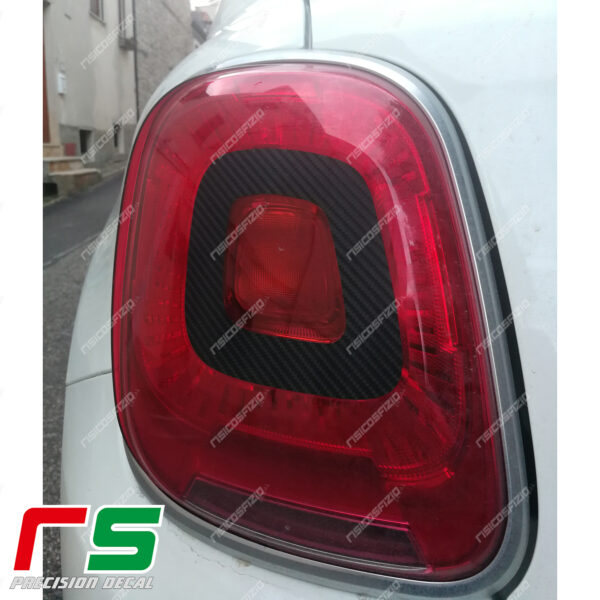 fiat 500X stickers sticker decal rear lights stop tuning