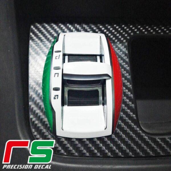 adesivi Alfa Romeo Giulietta decal DNA tricolore portamonete carbon look