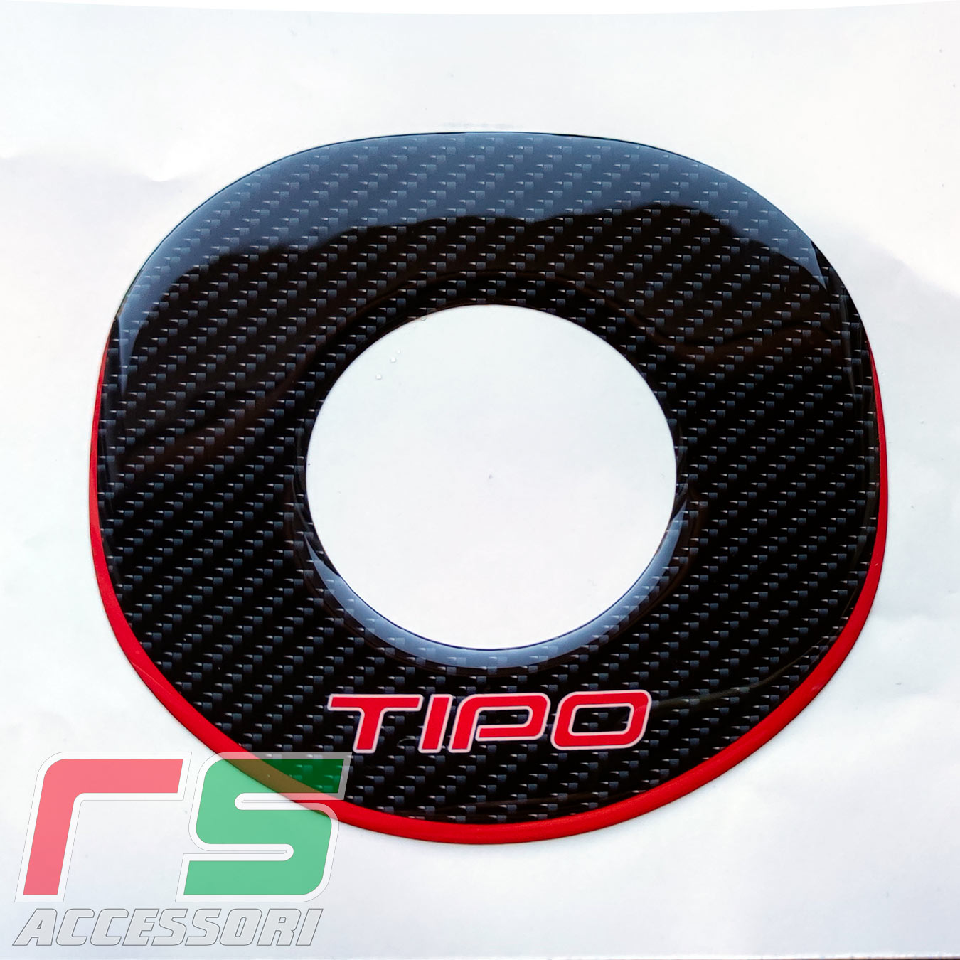 fiat tipo resinated stickers cover airbag carbonlook tuning