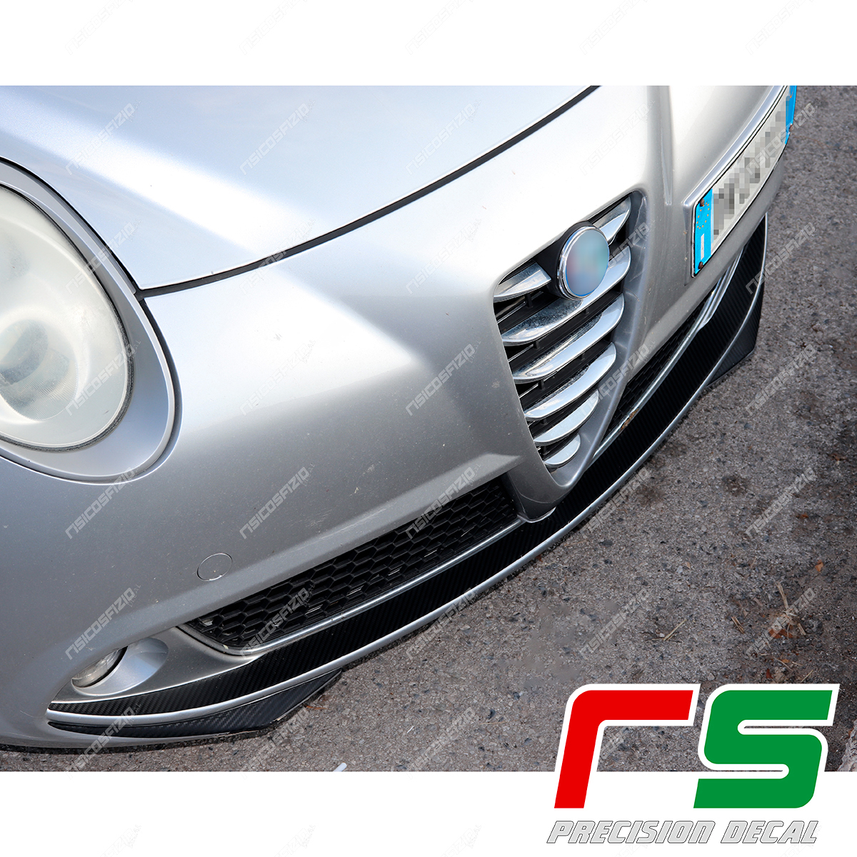 Alfa Romeo Mito Decal carbonlook stickers front bumper inserts