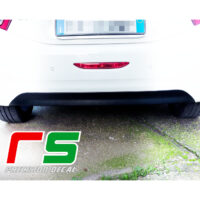 Peugeot 208 dam stickers rear bumper decal carbonlook tuning