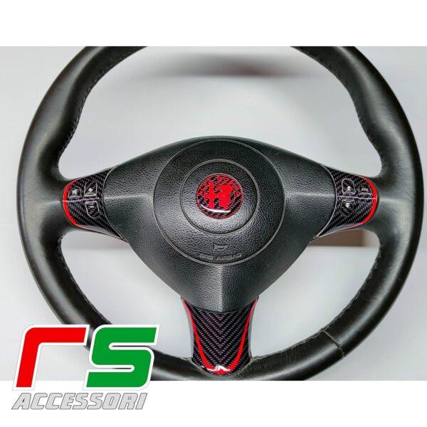alfa romeo GT resin-coated STICKERS logo spokes steering wheel controls