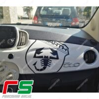 fiat abarth 500 565 595 carbon look stickers tuning dashboard