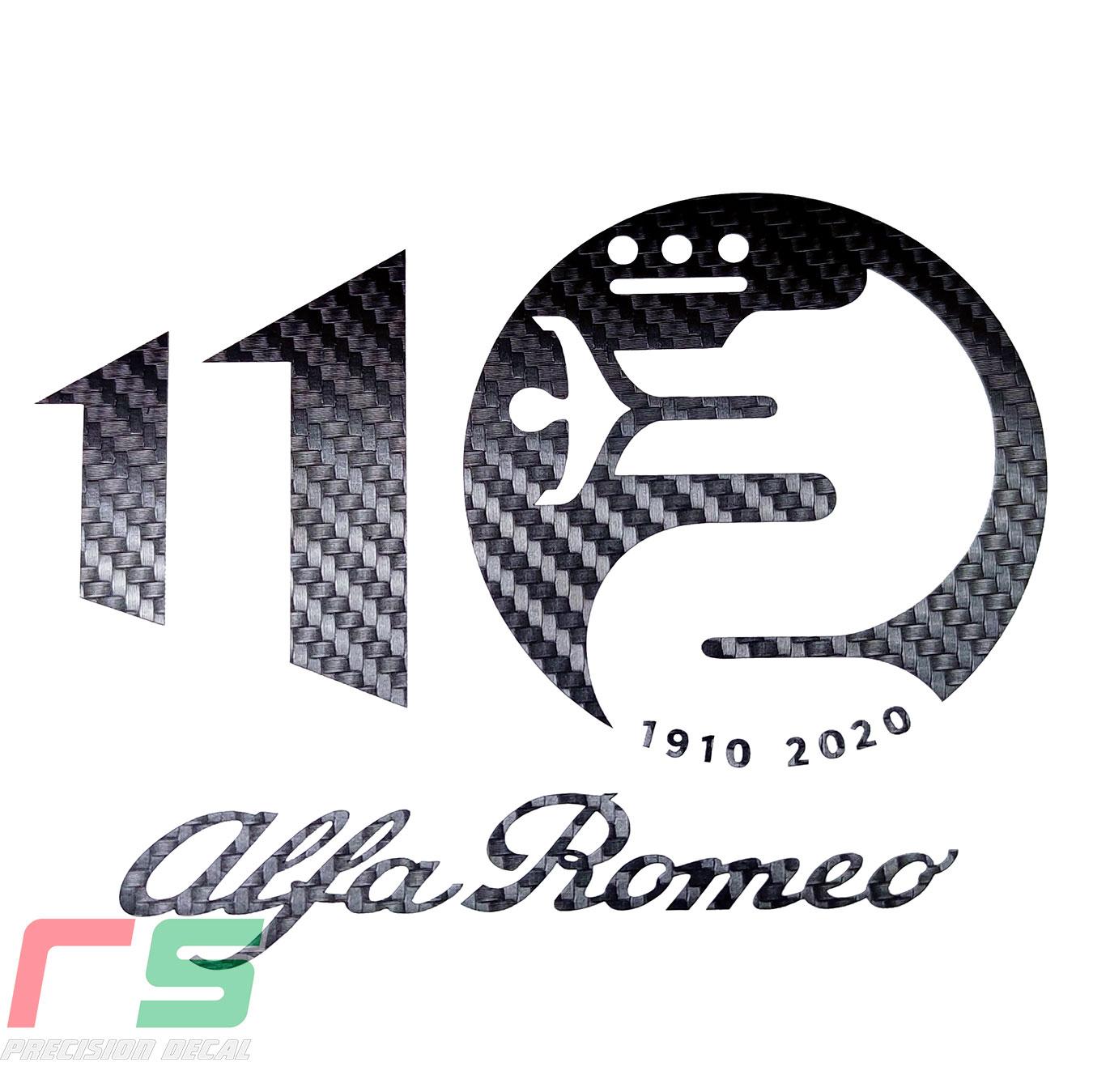 alfa romeo ADESIVI logo 110 anniversario cruscotto sticker decal