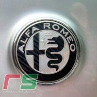 adesivi alfa romeo ripristino personalizza logo fregio carbonlook