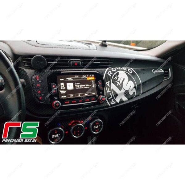 adesivi Alfa Romeo Giulietta carbonlook decorazione cruscotto logo Decal