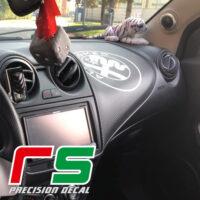 adesivi Alfa Romeo Mito carbonlook decorazione cruscotto logo