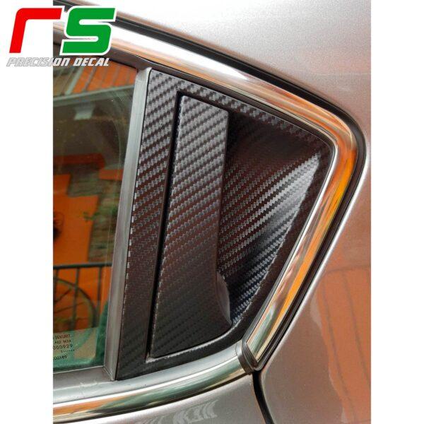 adesivi Alfa Romeo Giulietta carbon look Decal maniglia portiera posteriore