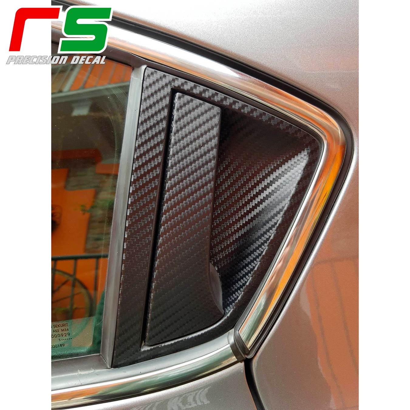 adhésifs Alfa Romeo Giulietta effet carbone sticker poignées de portes arrières