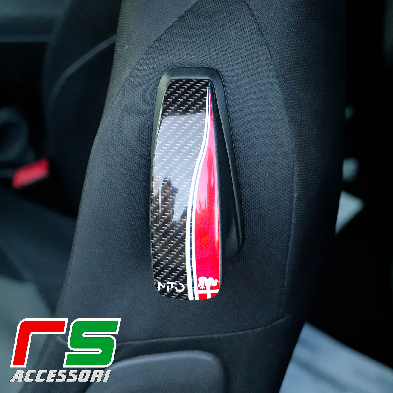 STICKERS resin-coated Alfa Romeo Mito seat tilting lever