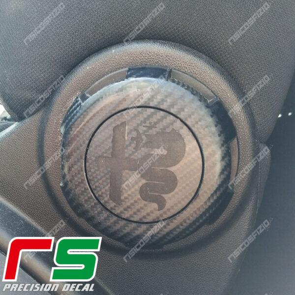 adesivi Alfa Romeo Mito Decal carbonlook regolazione sedile logo