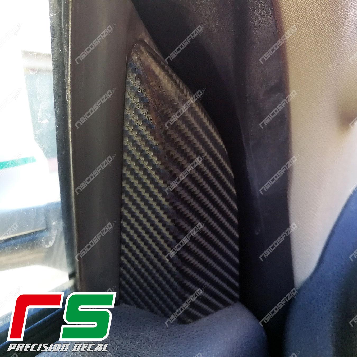 adhésifs Alfa Romeo mito stickers look carbone modénatures des rétroviseurs
