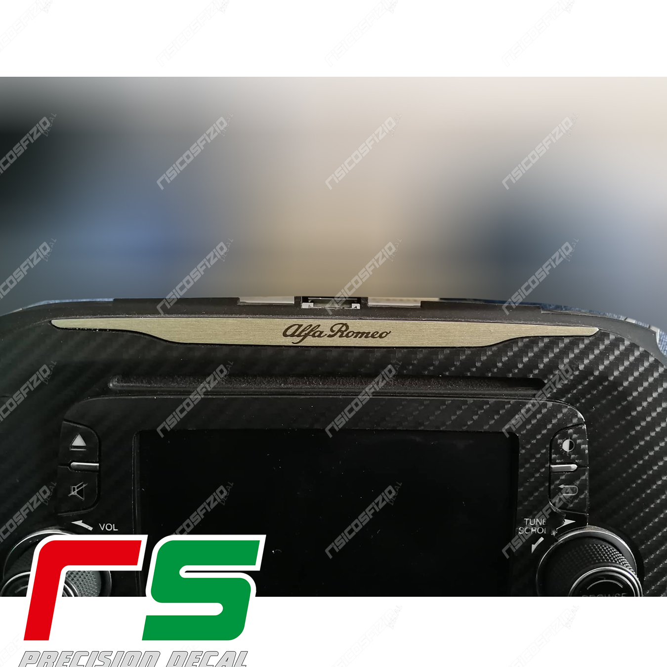 Adesivi Alfa Romeo Giulietta inserto Uconnect 5 RadioNav