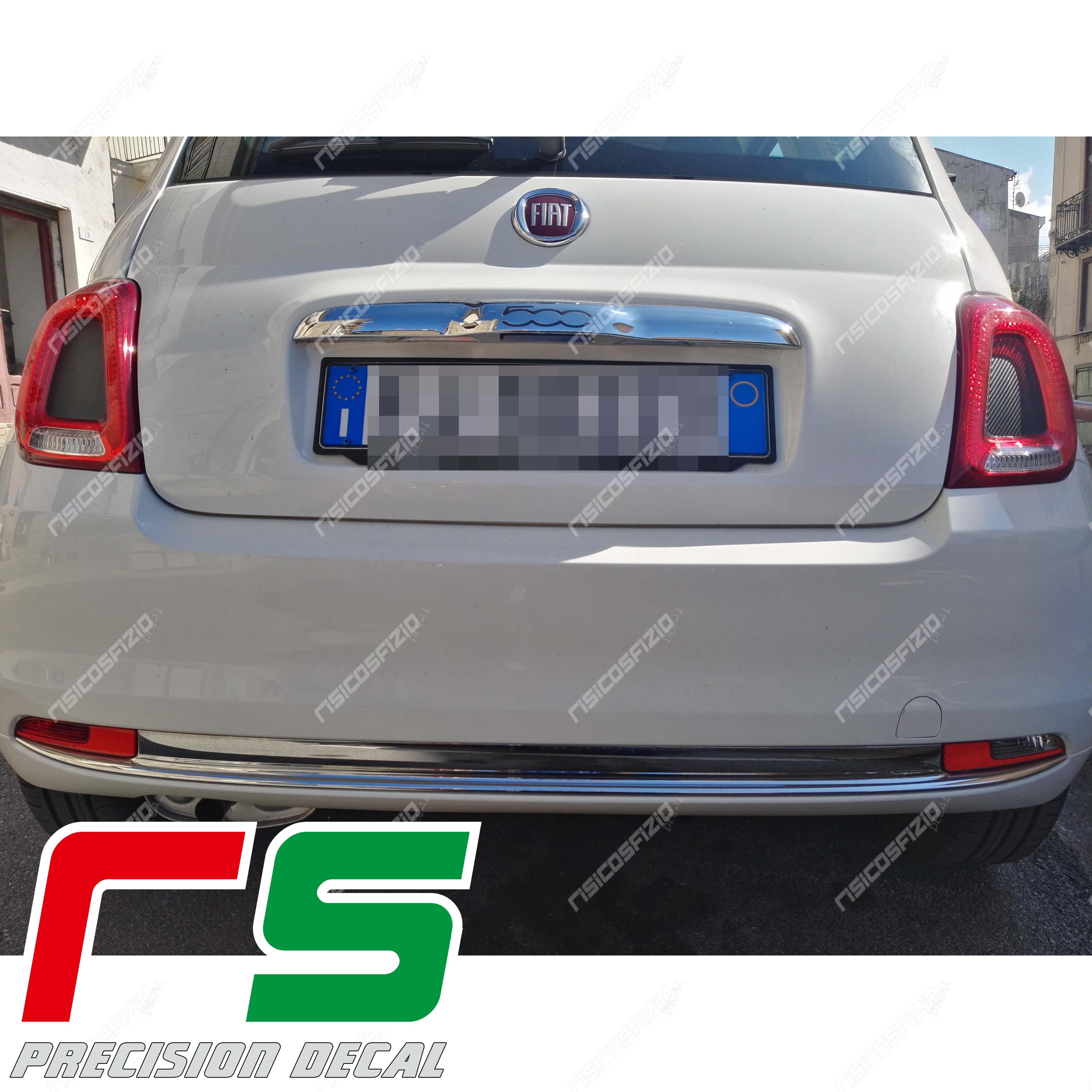 Adesivi Fiat 500 595 695 Abarth Modanatura Fari Posteriori Carbonlook