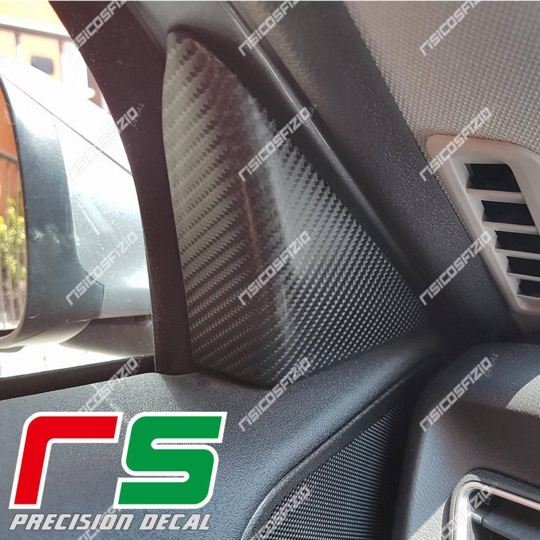 Alfa Romeo Giulietta Carbonlook-Aufkleber für Rückspiegel