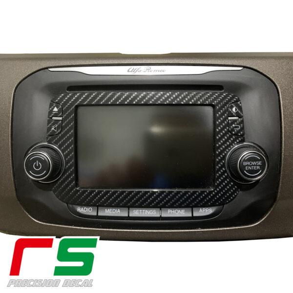 Adesivi Alfa Romeo Mito Giulietta Uconnect monitor Decal carbonlook