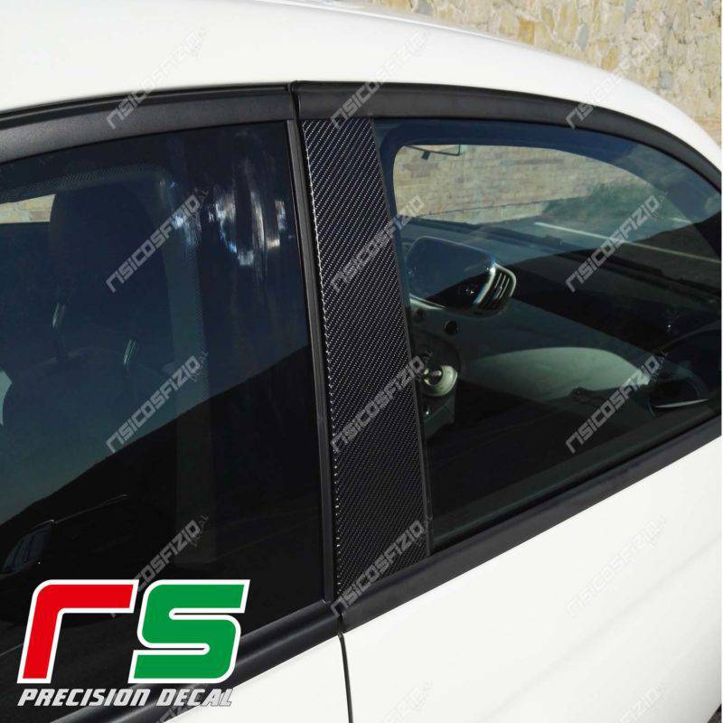 stickers Fiat 500 Abarth Decal carbonlook door trim