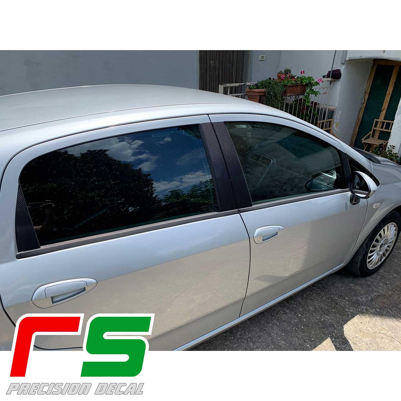 Carbonlook stickers Fiat Grande Punto 5 doors door pillars