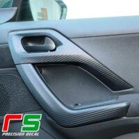 Peugeot 208 door stickers decal carbonlook tuning