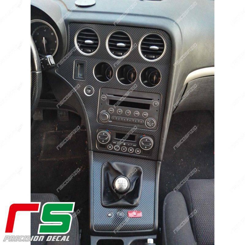 Adesivi Alfa Romeo 159 Decal carbonlook consolle centrale