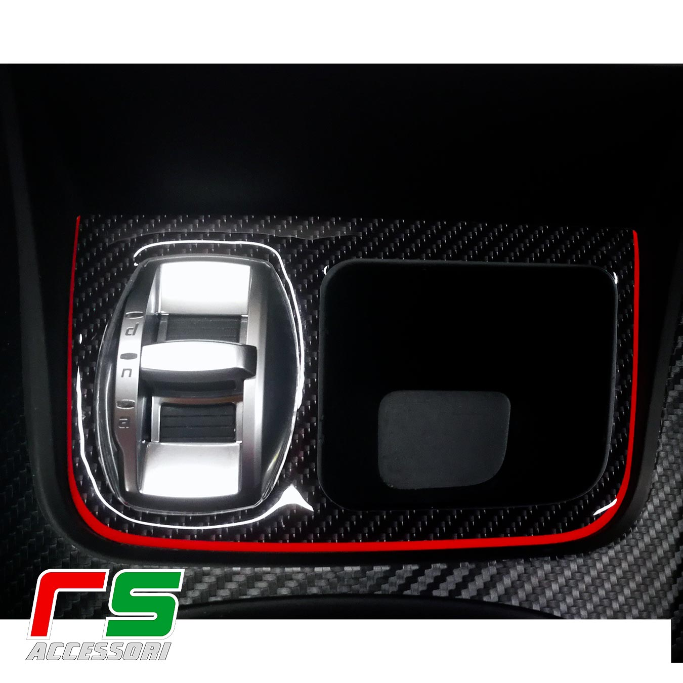 Autocollant porte-monnaie Alfa Romeo Giulietta en look carbone