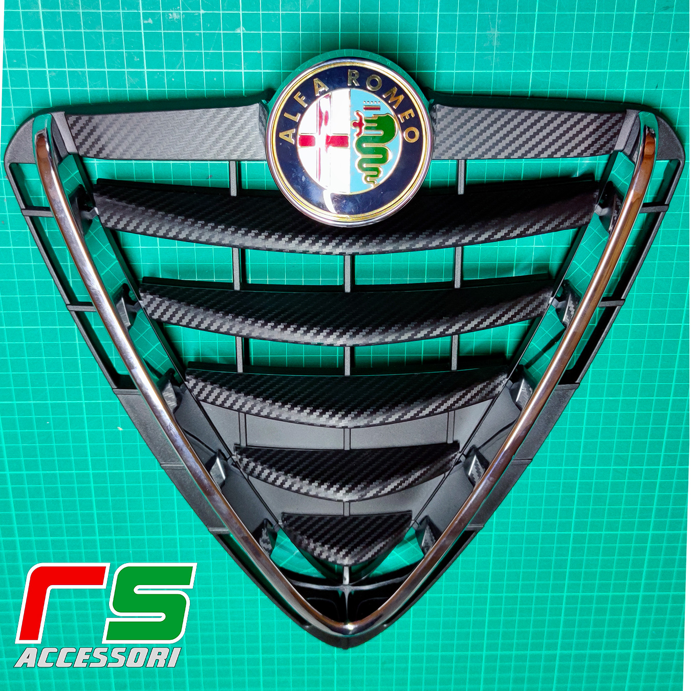 Alfa Romeo Giulietta Decal carbonlook tuning front shield