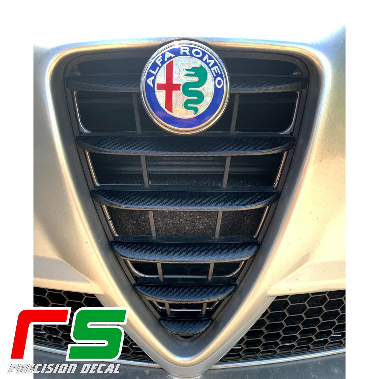 Alfa Romeo Mito Decal bouclier avant tuning aspect carbone