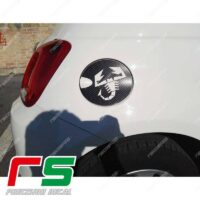adesivi Fiat 500 Abarth Decal carbonlook sportello carburante cover