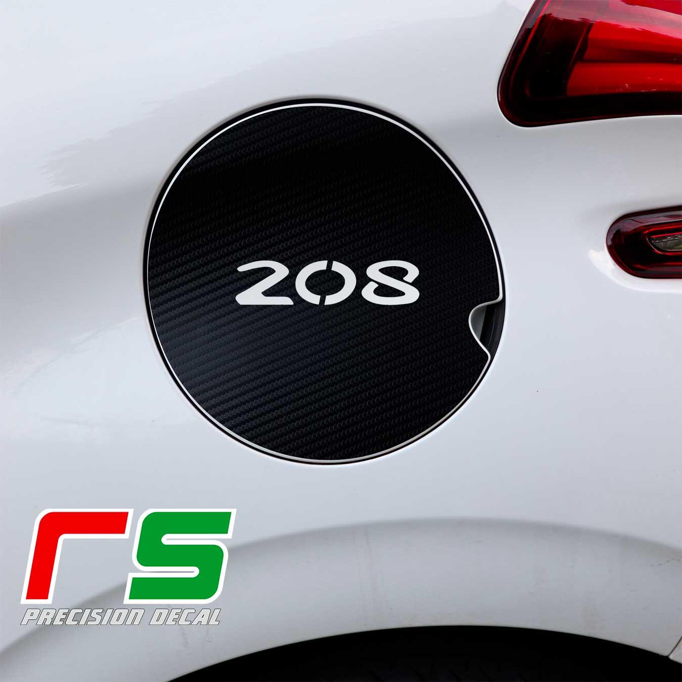 Peugeot 208 tank flap decal carbonlook tuning