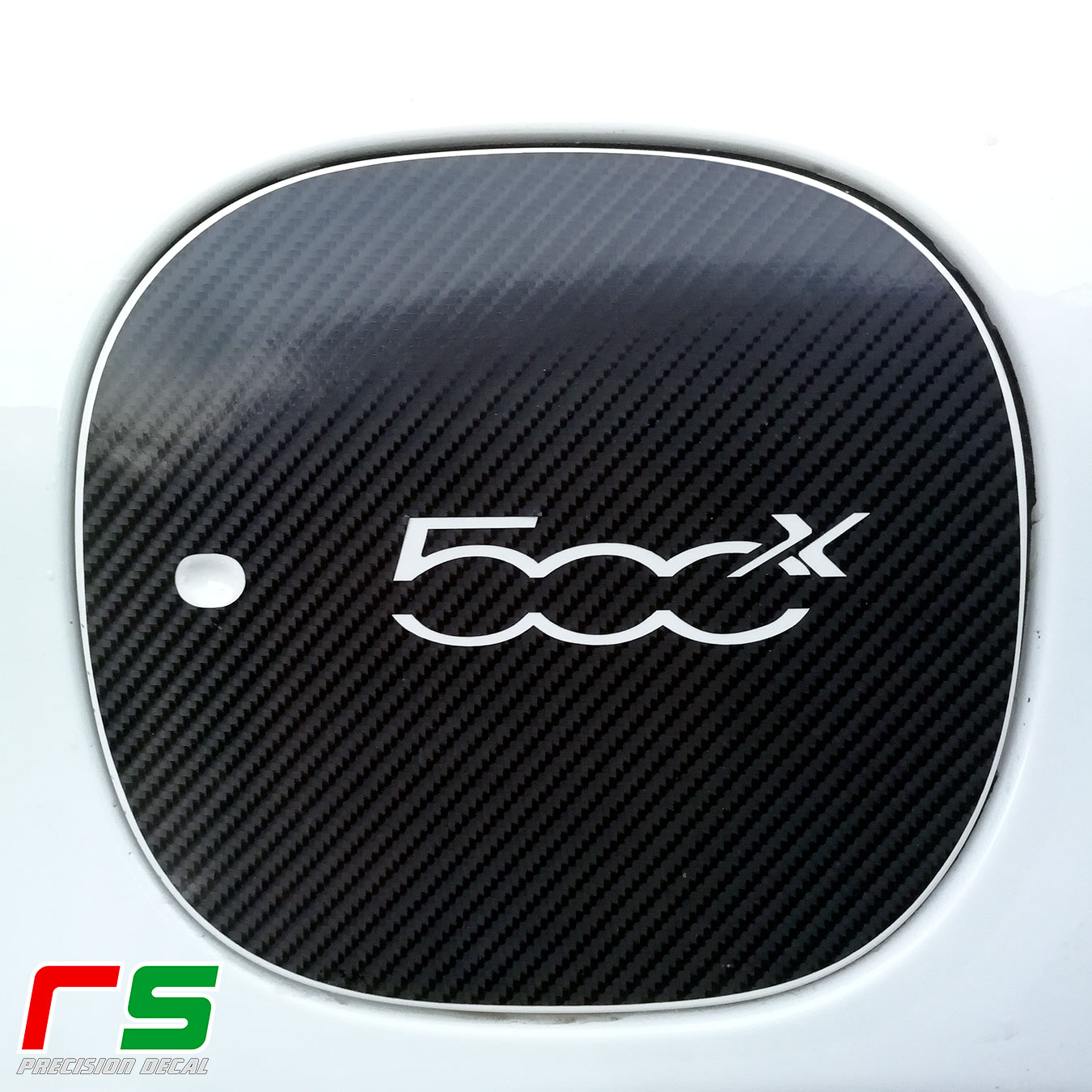 fiat 500x ADESIVI tank lid decal carbon look