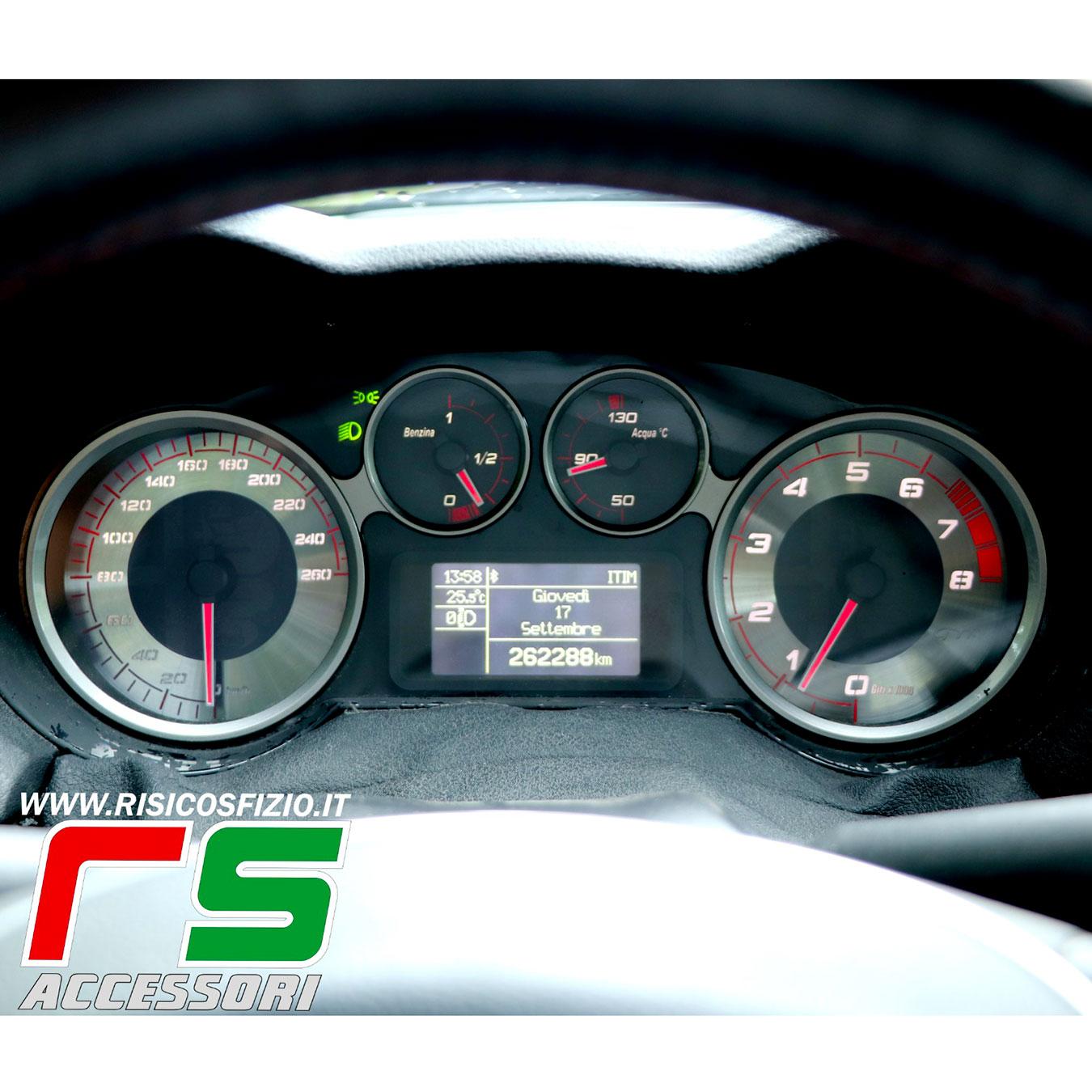 customized Alfa Romeo Mito GTA replica instrumentation