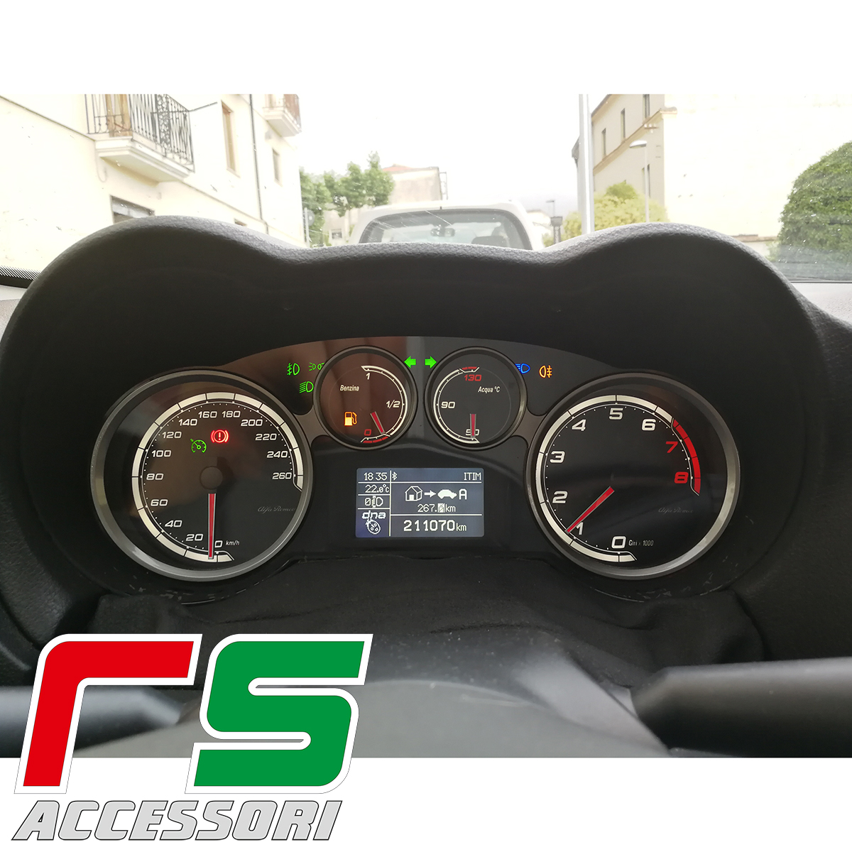 customized instrumentation Alfa Romeo Mito petrol