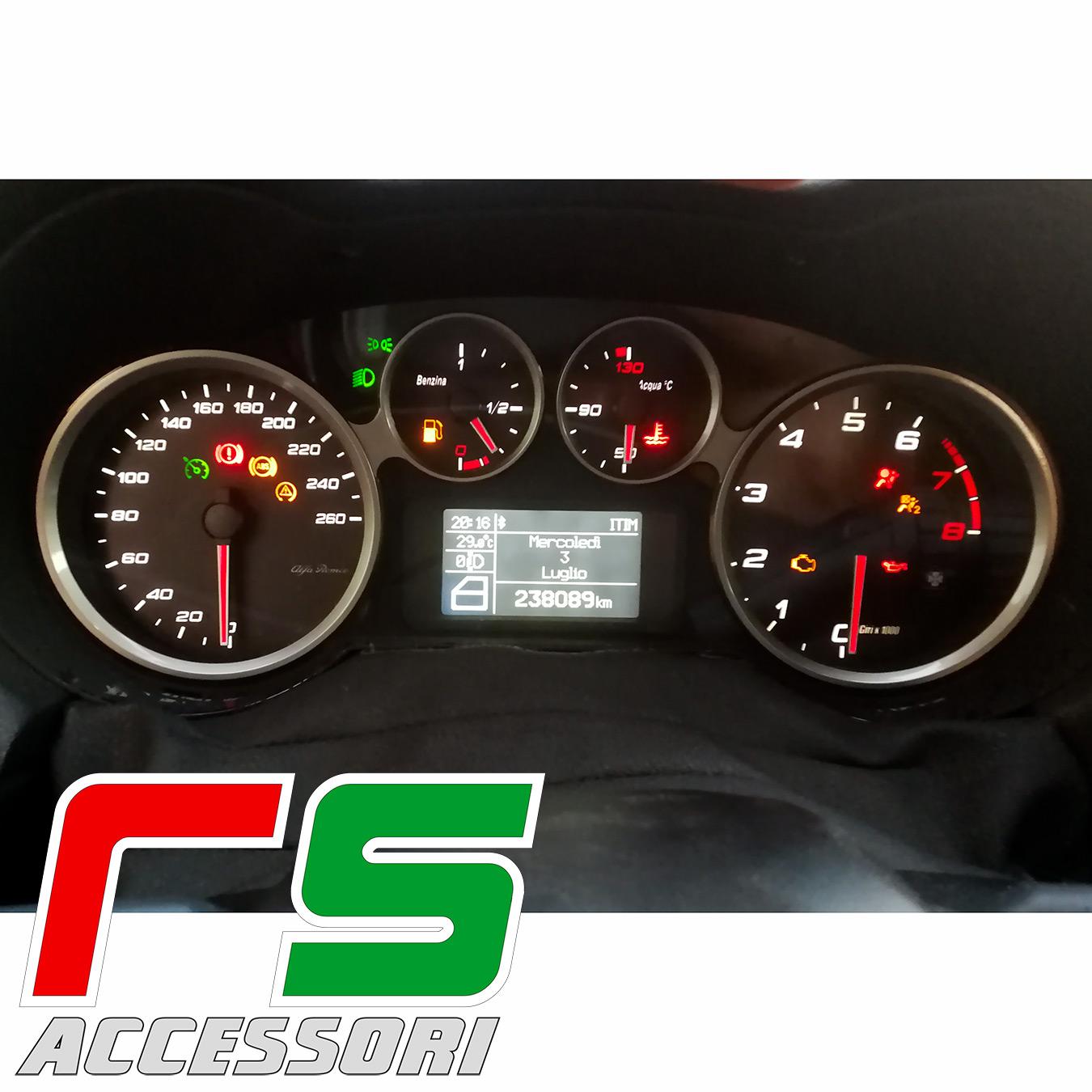 custom instrumentation bottoms Alfa Romeo Mito Giulia replica gasoline