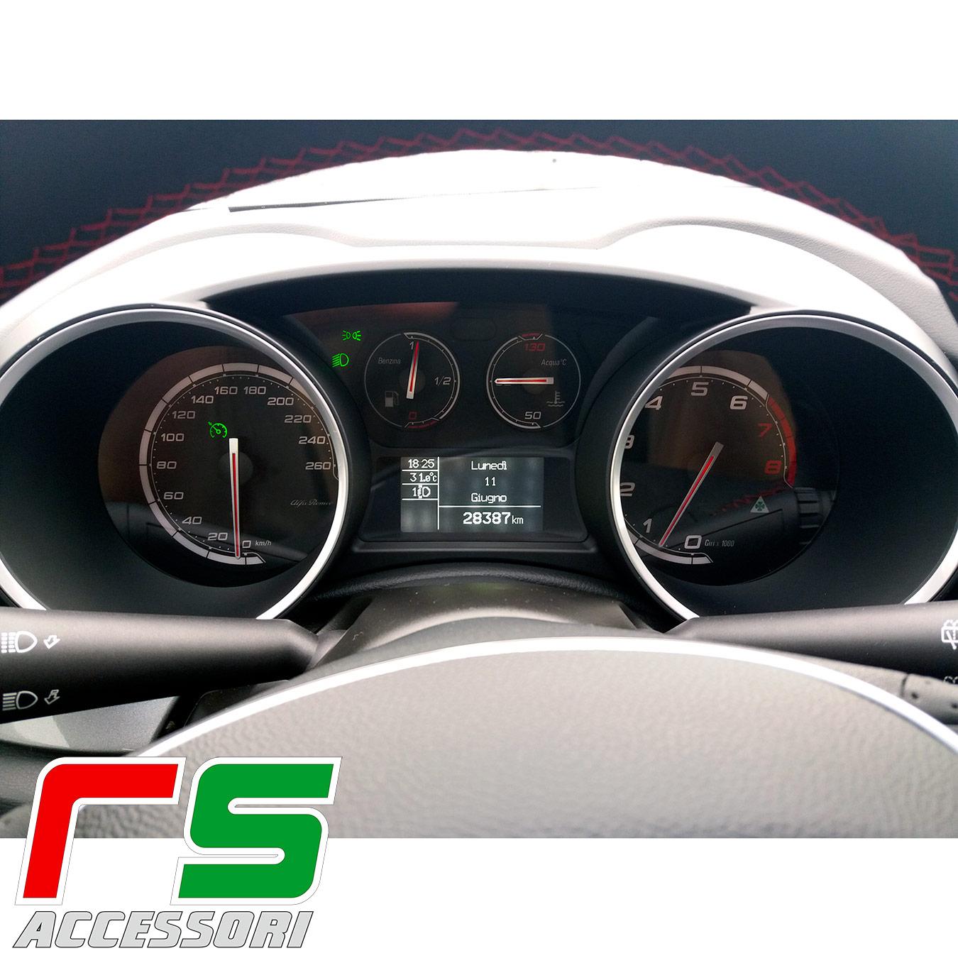 instrumentation personnalisée Alfa Romeo Giulietta quadrifoglio