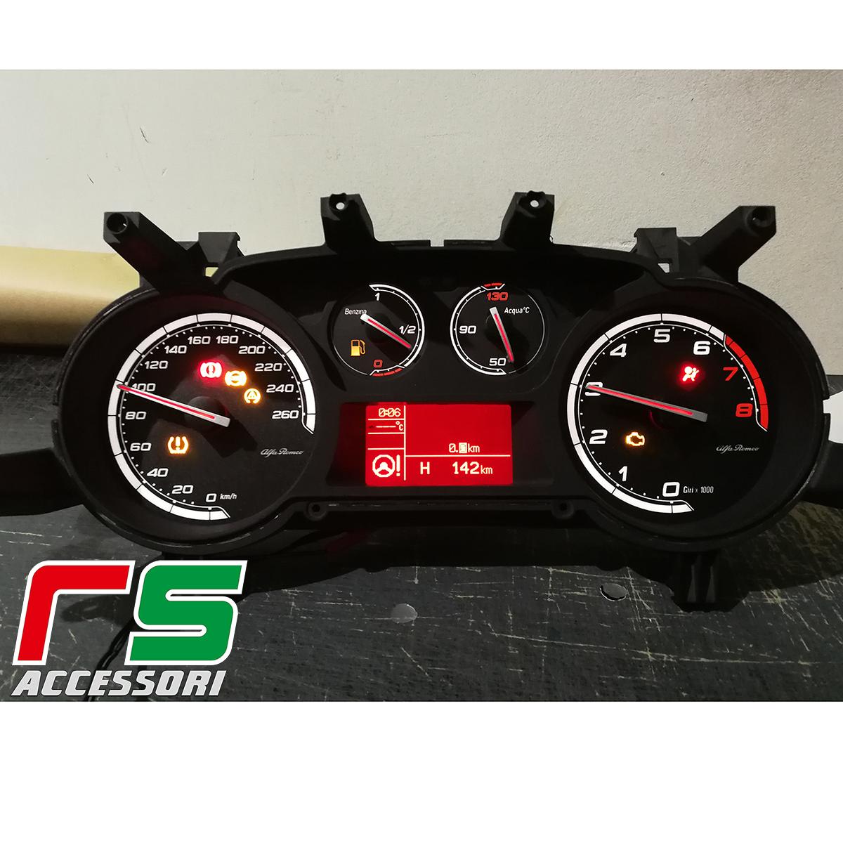 strumentazione fondini personalizzati Alfa Romeo Giulietta benzina