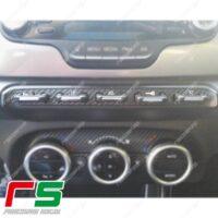 adesivi Alfa Romeo Giulietta Decal carbon look tastiera centrale xenon