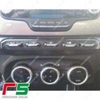 adesivi Alfa Romeo Giulietta carbonlook Decal tastiera centrale no xenon
