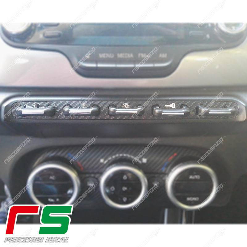 stickers Alfa Romeo Giulietta carbonlook central keyboard no xenon