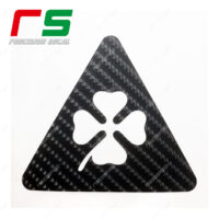 Alfa Romeo adesivi triangolo quadrifoglio carbon look