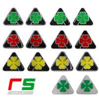 Alfa Romeo adesivi resinati triangolo quadrifoglio carbonlook