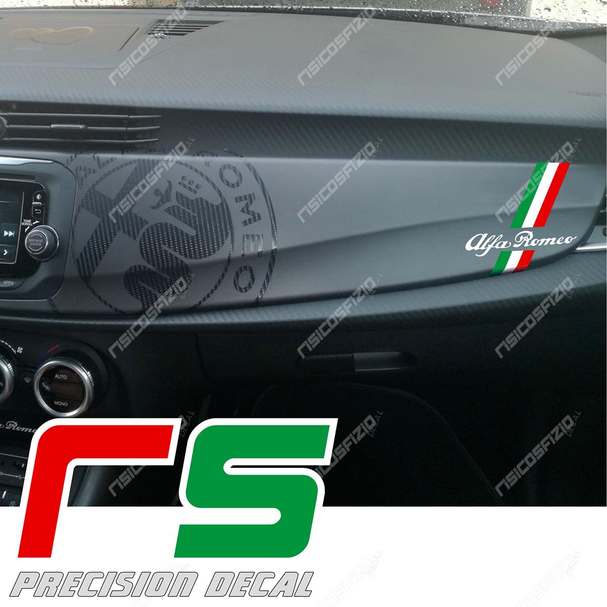 Adesivi Alfa Romeo Giulietta Cruscotto Bandiera Tricolore